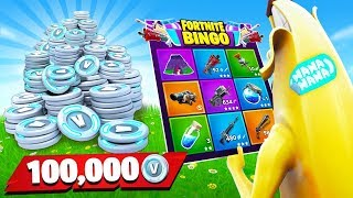 1v1 Fortnite Rainbow Bingo For 100k Free Vbucks! (Season 8 Challenge)