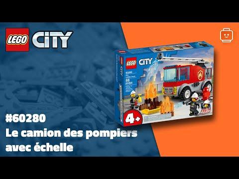 Vidéo LEGO City 60280 : Le camion des pompiers avec échelle