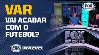 """CAUSOU POLÊMICA! VAR no jogo entre Palmeiras e Bahia é tema de debate no """"Fox Sports Rádio"""""""