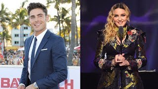 Zac Efron SPILLS On The Time He Got Super Close To Madonna