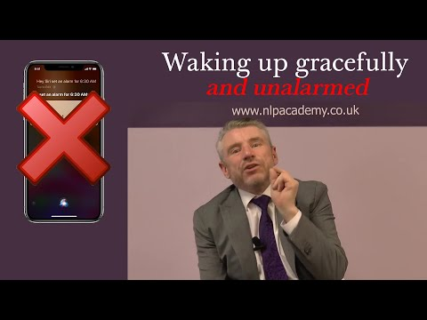 Waking up gracefully and unalarmed a video from Michael Carroll.