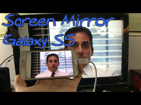Screen Mirror Samsung Galaxy S5 TV with MHL Adapter for Games, Movies, Videos, Photos