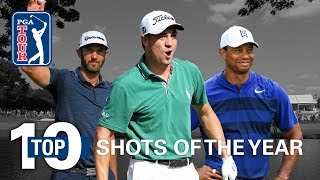 Top-10 shots on the PGA TOUR 2018