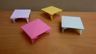 How To Make A Paper Table - Easy Tutorials