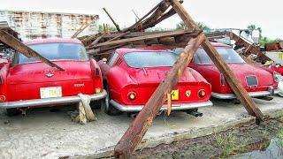 Abandoned collection of rare Ferraris. Abandoned Ferrari