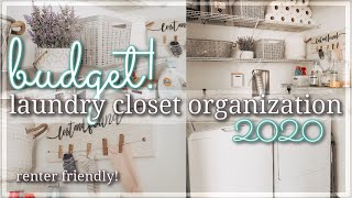 SMALL LAUNDRY CLOSET BUDGET ORGANIZE & DECORATE 2020 / EXTREME CLEAN, DECLUTTER, & ORGANIZE WITH ME