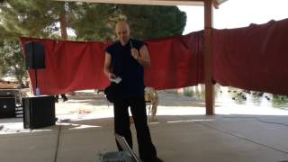 EXTREME Renaissance fair magic trick: Human Blockhead!