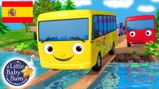 Canciones Infantiles | Diez Autobuses | ¡Y Más Dibujos Animados! | Little Baby Bum En Español