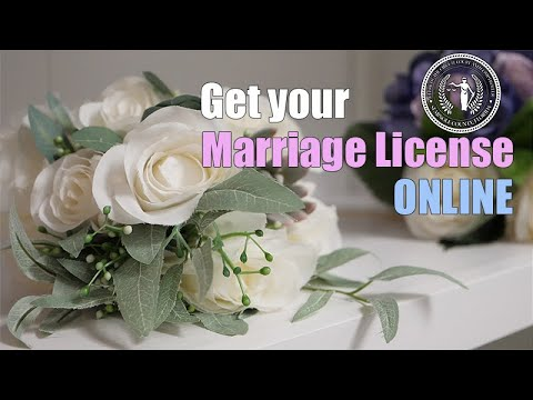 Applying for your Marriage License Online - YouTube