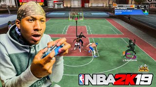 I Showed ImDavisss i got the Best Build On NBA 2K19! Shot Creator Stretch Big Demigod Build NBA 2K19