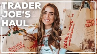 HEALTHY TRADER JOE'S HAUL! | easy 1 person meal shopping 2020