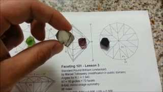 Facetado 101, capítulo 4: Elegir la piedra en bruto, tamaño, forma, color