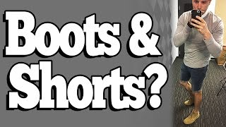 How To Wear Boots With Shorts (Stylish Mens Spring/Summer Outfit)