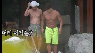 [HOT CLIPS] [My Little Old Boy] [EP 151-2]   Jongkook & father never stop exercising!! (ENG SUB)