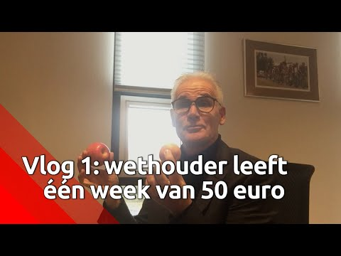 Dag 1: wethouder Kees van Geffen probeert rond te komen van vijftig euro