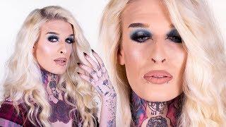 Blue beauty makeup tutorial