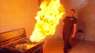 How to Safely Put Out a Kitchen Fire