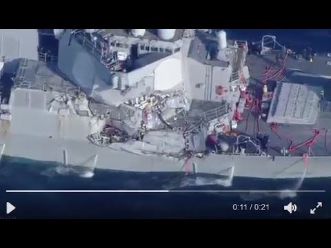 BREAKING NEWS: US Navy Destroyer in Collision, 7 Crew Missing