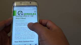 Samsung Galaxy S6 Edge: How to Copy and Paste Text From Webpage to Other Apps
