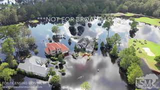 9-22-2018 Calabash, NC New Brunswick drone over flooded neighborhood Waccamaw RIver Record Crest