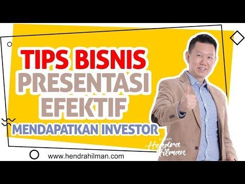 Video Coach Hendra Hilman - TIPS Bisnis Presentasi EFEKTIF mendapatkan INVESTOR