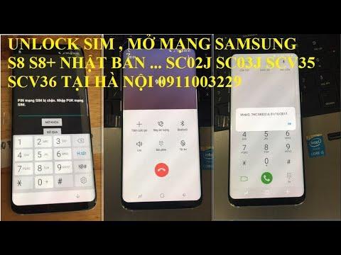 Nhận Unlock Samsung galaxy Note 8 N950U SC-01K DOCOMO ATT