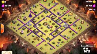 Clash Of Clan - WiGoWiPe Attack White Flag Base (TH9) (3 Stars)