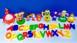 Learning Alphabet With TWIRLYWOOS, MAKKA PAKKA and Toys!