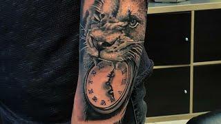 Lion/Clock Tattoo Timelapse