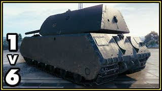 Maus - 11642 Damage - 1 vs 6 - World of Tanks Gameplay