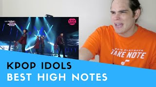 Voice Teacher Reacts to KPOP High Notes Compilation Part 1