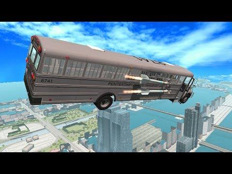 Rocket Ride Crashes #13 (JET BUS) - BeamNG Drive