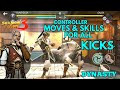 Shadow fight 3 CONTROLLER MOVES & SKILLS FOR ALL KICKS | DYNASTY