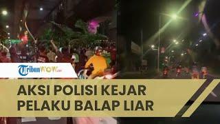 Viral Video Aksi Polisi Kejar Pelaku Aksi Balap Liar di Kawasan Setiabudi, Pelaku Kabur Kocar-kacir