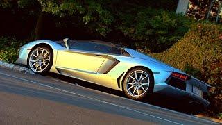 On the road: Lamborghini Aventador