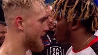 KSI & Jake Paul Face-Off In Ring Ahead of Potential Fight