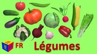 Apprendre Les Légumes En Français. Dessins Animés éducatifs Pour Bébés. Vegetables In French