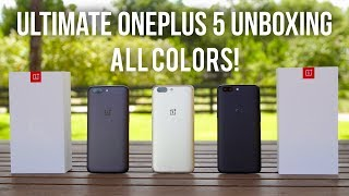 OnePlus 5 Unboxing in ALL COLORS! (Soft Gold)