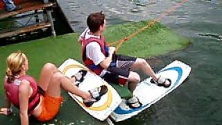 preview picture of video '21. Juli 09 - Wakeboarden in Ruhlsdorf'
