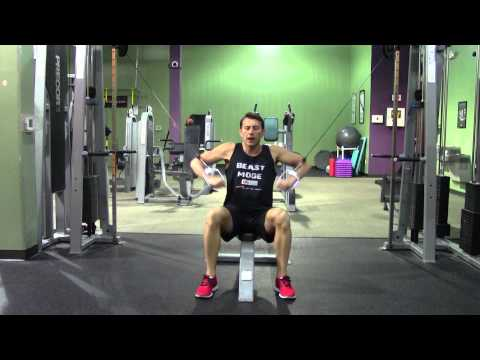 Seated Cable Decline Chest Press - HASfit Lower Chest Exercise Demonstration - Decline Cable Press