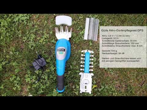 Güde Akku Gartenpflegeset 3,6 V Li-Ion - Strauchschere Akku Erfahrung