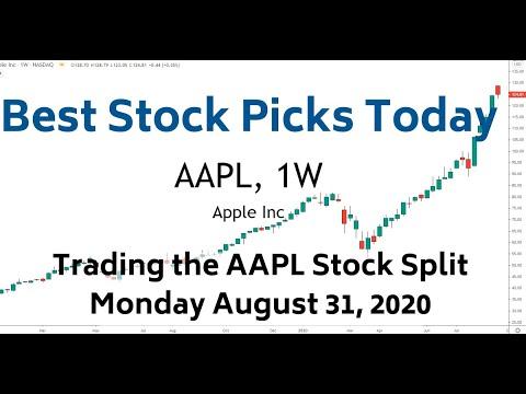 Trading AAPL Stock Split 8-31-20 | Best Stock Picks Today