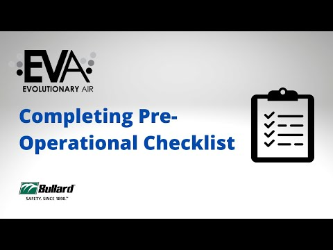 EVA - Completing Pre-Operational Checklist