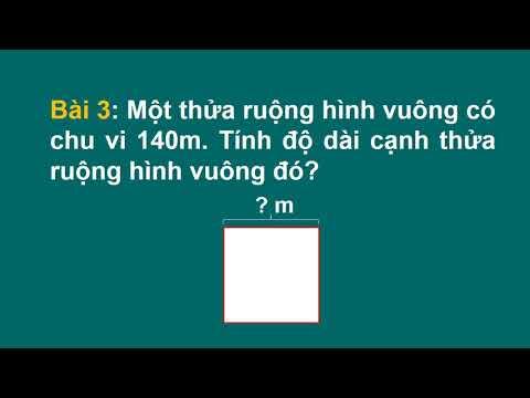 toán lớp 3 Ôn tập tính chu vi hình vuông, chu vi hình chữ nhật, Cô giáo Trịnh Thị Ngọc Phượng, chủ nhiệm lớp 3a1 trường Tiểu học Đăng Châu