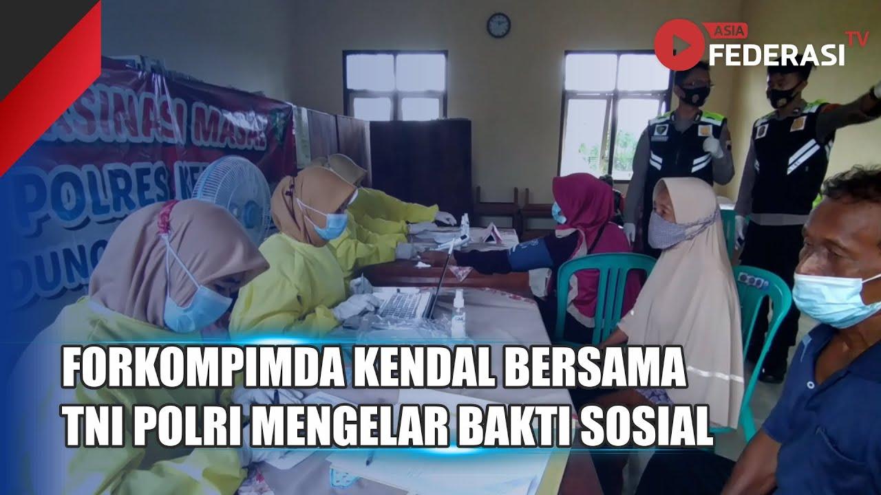 Kendal – FORKOMPIMDA Bersama TNI Polri Mengelar Bakti Sosial Penyemprotan Disinfektan di 20 Lokasi