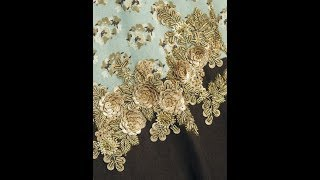 #001 Roz Gold Sequins Work|hand Embroidery|Roz Work