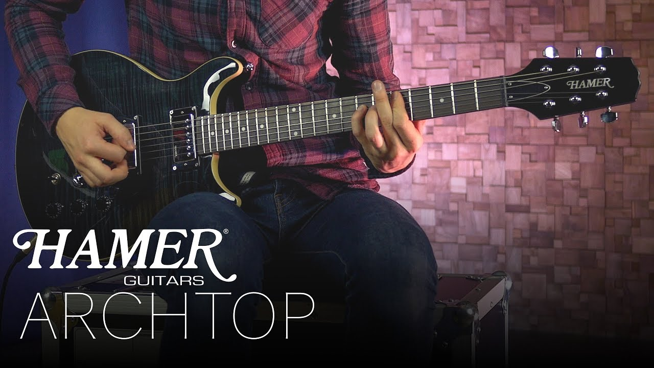 hight resolution of play button archtop video the monaco electric guitar