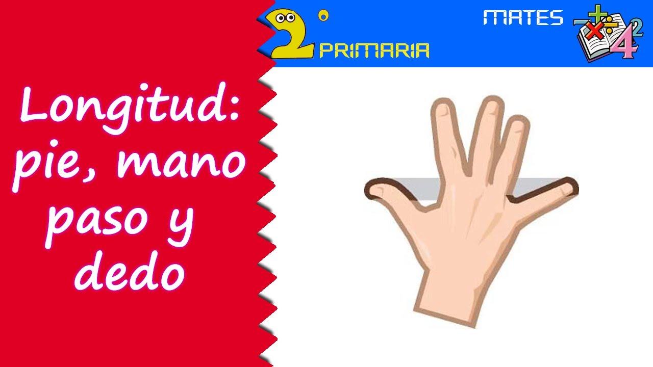 Matemáticas. 2º Primaria. Tema 1. Medidas de longitud: el pie, el paso, la mano y el dedo