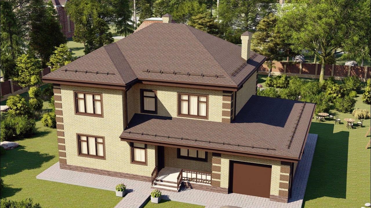 Проект большого двухэтажного дома с удобной планировкой