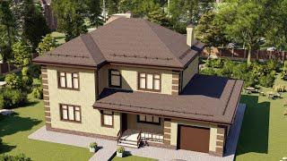 Проект дома 238-A, Площадь дома: 238 м2, Размер дома:  16,8x11,9 м